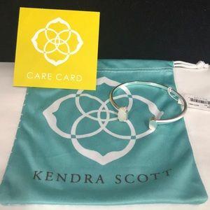 NWT. Kendra Scott Vada cuff bracelet. White stone.